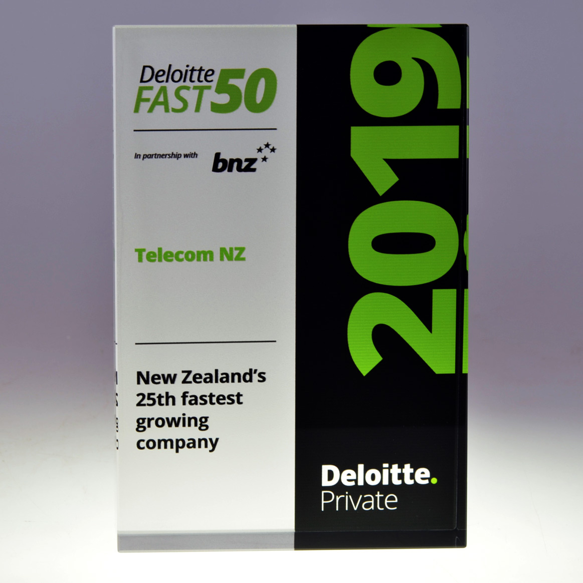 Deloitte crystal award by Mint Awards